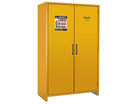Flammable Cabinets Justrite Flammable Storage Meet OSHA - Fireproof chemical cabinet