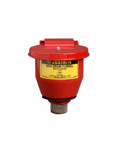 "Small Steel Drum Funnel use with 5-gal. Steel Pail with 2"" Bung, Self-Close Cover"