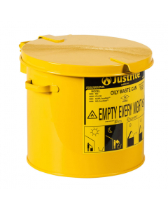 Countertop Oily Waste Can accepts small wipes and swabs, 2 gallon, Yellow. - #09200Y