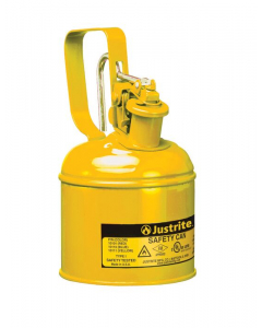Type I Steel Safety Can w/Trigger-handle for diesel, 1 qt, Yellow - #10111