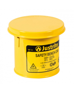 Bench Can to Clean Small Parts in Solvents, 1 Quart, Steel, Yellow - #10171