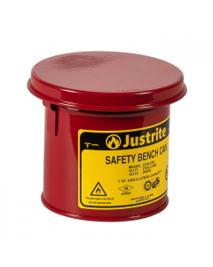 Bench Can to Clean Small Parts in Solvents, 1 Quart, Steel, Red - #10175