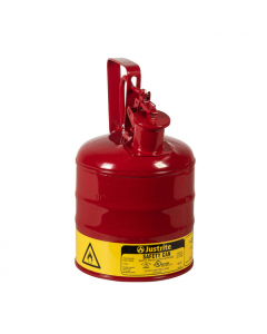 Type I Safety Can w/Trigger-handle for flammables, 1 gallon, steel, Red - #10301