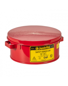 Bench Can With Parts Basket, 1 Gallon, Steel, Red - #10370