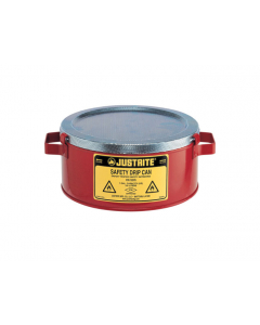 Steel Drip Can w/handles for portability, spill capacity 1 gallon, fire baffle acts as flame arrester - #10376