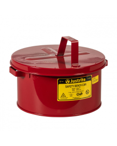 Bench Can to Clean Small Parts in solvents, 2 Gallon, Steel, Red - #10575
