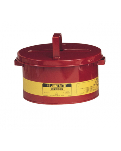 Bench Can to Clean Small Parts in Solvents, 3 Gallon, Steel, Red - #10775