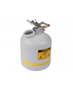Safety Can for Liquid Disposal, 5 gallon, polyethylene, White - #12754