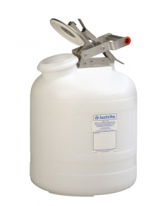 Safety Container for corrosives/acids, Wide-mouth, 5 gallon, polyethylene, White - #12765