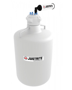 """VaporTrap Carboy with filter Kit, 20L RND HDPE, 83mm cap, 6 ports 1/8"""" OD tubing - #12804"""