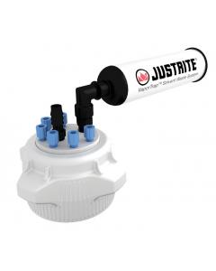 VaporTrap Cap with filter Kit, 83mm cap, 6 ports 1/8†OD tubing, 1 port hose barb - #12827