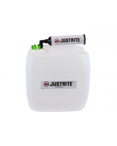 "VaporTrap UN/DOT Carboy with filter Kit, 13.5L HDPE, 70mm cap, 6 ports 1/16"" OD tubing - #12836"