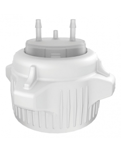 "Carboy Cap, 53mm, Open Top with Adapter, Two 1/8"" Molded-in Hose Barbs and Vent - #12854"