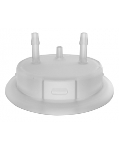 "Adapter for Carboy Cap, 53mm, with two 1/8"" Molded-in Hose Barbs and Vent - #12864"