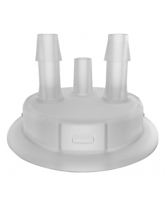 "Adapter for Carboy Cap, 53mm, with two 1/4"" Molded-in Hose Barbs and Vent - #12865"