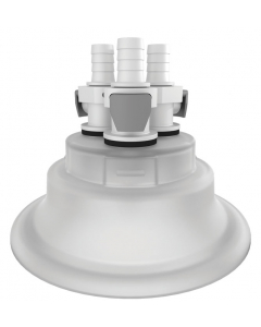 """Adapter for Carboy Cap, 120 mm, with Three 3/8"""" Hose Barbs, Quick Connects - #12881"""
