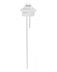 "Carboy Cap, 120mm, Open Top with Adapter w/Two 1/4"" Molded-in Hose Barbs, w/37"" tubing - #12889"