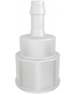 """Spigot Fitting, 1-1/8"""" Thread with 3/8"""" Hose Barb - #12903"""