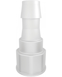 """Spigot Fitting, 1-1/8"""" Thread with 3/4"""" Hose Barb - #12905"""