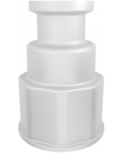 """Spigot Fitting, 1-1/8"""" Thread with 3/4"""" Sanitary Connect - #12906"""