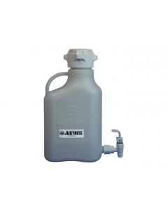 Carboy with Spigot, 5 L, High Density Polyethylene (HDPE), 83mm cap - #12914