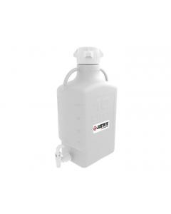 Carboy with Spigot, 10 L, High Density Polyethylene (HDPE), 83mm cap - #12915