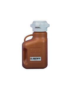 Carboy, 2.5 L, High Density Polyethylene (HDPE), Amber, 83mm cap - #12919