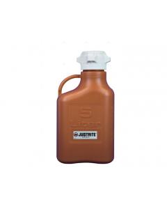 Carboy, 5 L, High Density Polyethylene (HDPE), Amber, 83mm cap - #12920