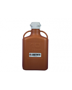 Carboy, 10 L, High Density Polyethylene (HDPE), Amber, 83mm cap - #12921