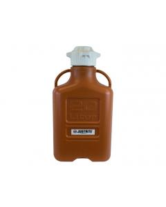 Carboy, 20 L, High Density Polyethylene (HDPE), Amber, 120mm cap - #12922