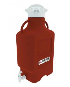Carboy, 20 L, High Density Polyethylene (HDPE), Amber, 120mm cap, with spigot - #12926