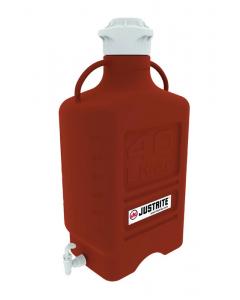 Carboy, 40 L, High Density Polyethylene (HDPE), Amber, 120mm cap, with spigot - #12927