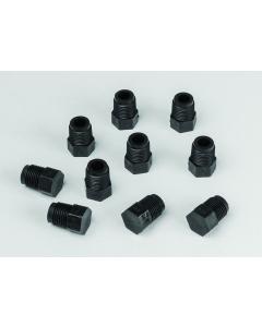 Fittings, 1/8-in MNPT, Hose Barb Plug, 10 per Pack - #12964