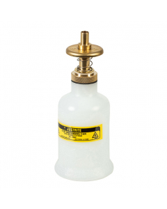 Dispensing Can, Nonmetallic, with brass dispenser valves, 4 ounce, translucent polyethylene, White - #14002