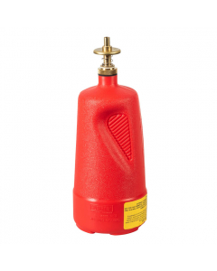 Dispensing Can, Nonmetallic, with brass dispenser valves, 1 quart, polyethylene, Red - #14010