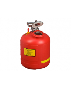 Safety Can for Liquid Disposal, 5 gallon, built-in Fill Gauge, polyethylene, Red - #14565