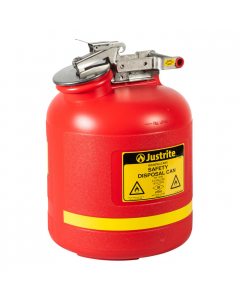 Safety Can for Liquid Disposal, 5 gallon, polyethylene, Red - #14765