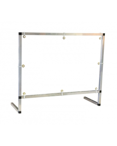 3' x 3' Counter/Desktop with Document Pass Thru Area Workspace Cough and Sneeze Guard - #15614