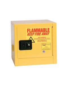 Bench Top Flammable Liquid Safety Cabinet, 2 Gal., 1 Shelf, 1 Door, Self Close, Yellow - #1900