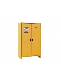EN Flammable Safety Cabinet, 30-Minute, 45 gallon, 2 hybrid-close doors, Yellow - #22603