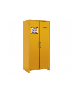 EN Flammable Safety Cabinet, 90-Minute, 30 gallon, 2 hybrid-close doors, Yellow - #22605