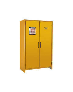 EN Flammable Safety Cabinet, 90-Minute, 45 gallon, 2 hybrid-close doors, Yellow - #22607