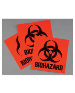 Label Kit for Biohazard cans, 3 labels and instructions, Code Compliant for California - #25880