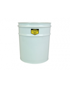 Cease-Fire® Waste Receptacle, Safety Drum Can Only, 4.5 gallon, White - #26040W