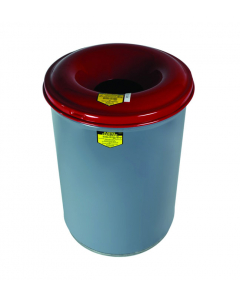 Cease-Fire® Waste Receptacle, Safety Drum Can with Steel Head, 30 Gallon, Gray - #26430