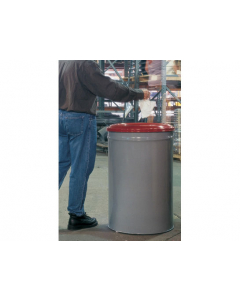Cease-Fire® Waste Receptacle, Safety Drum Can with Steel Head, 15 Gallon, Gray - #26415
