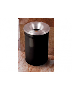 Cease-Fire® Waste Receptacle, Safety Drum Can With Aluminum Head, 4.5 gallon, Black - #26604K
