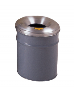 Cease-Fire® Waste Receptacle, Safety Drum Can With Aluminum Head, 6 gallon, Gray - #26606G