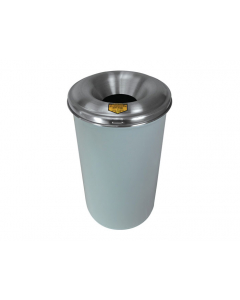 Cease-Fire® Waste Receptacle, Safety Drum Can With Aluminum Head, 12 gallon, White - #26612W