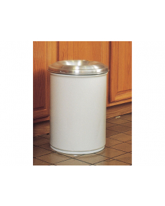 Cease-Fire® Waste Receptacle, Safety Drum Can With Aluminum Head, 15 gallon, White - #26615W